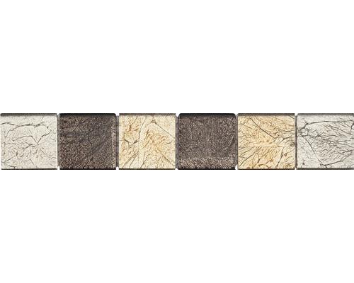 Glasbordüre 4,8x29,8 cm brown mix