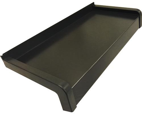 Fensterbank Alu braun 125x22,5 cm inkl. Kunststoff-Seitenabschluss (re+li) und Montageschrauben