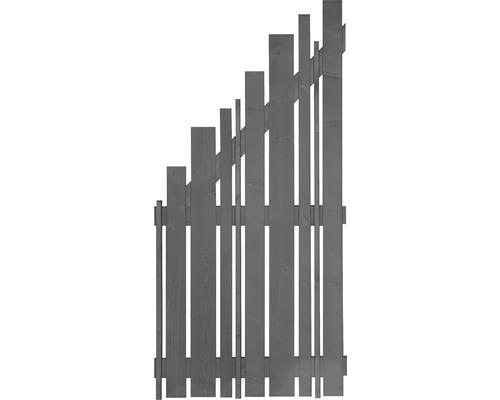 Abschlusselement Various links 90 x 180/90 cm anthrazit