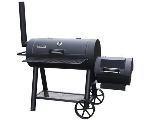 Tenneker® Grill Smoker XL 98 x 44 cm mit Schornstein, Deckelthermometer