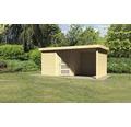 Gartenhaus Karibu Anvik 5 mit Schleppdach, Rück- und Seitenwand 462 x 246 cm natur