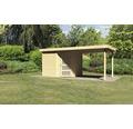 Gartenhaus Karibu Anvik 5 mit Schleppdach 497 x 246 cm natur