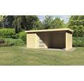 Gartenhaus Karibu Anvik 5 mit Schleppdach, Rück- und Seitenwand 497 x 246 cm natur