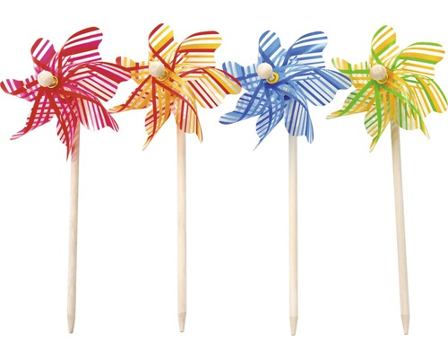 Windrad gestreift Ø 31 cm zufällige Farbauswahl