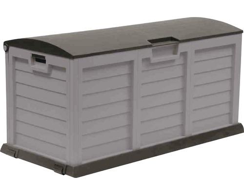 Auflagenbox XXL Kunststoff 140x61x69 cm 390 L silber