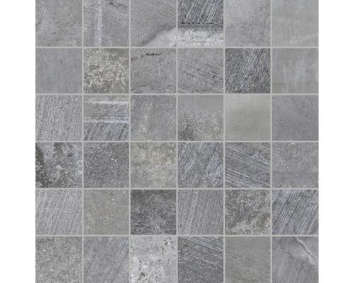 Mosaikfliese Boldstone grau gemischt 30x30 cm