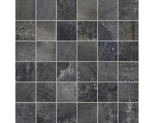 Mosaikfliese Boldstone grau/anthrazit 30x30 cm