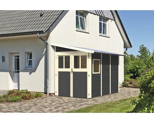 Gartenhaus Karibu Bernau 3 181 x 268 cm terragrau