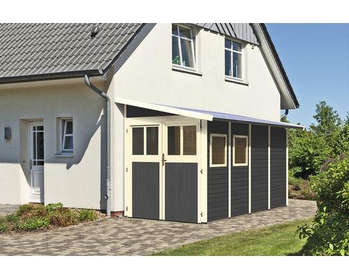 Gartenhaus Karibu Bernau 4 181 x 355 cm terragrau