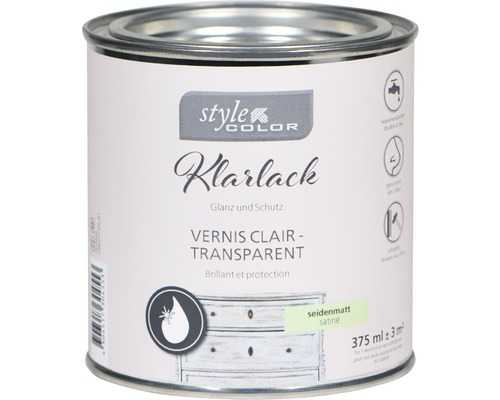 Klarlack für Kreidefarbe StyleColor seidenmatt 375ml