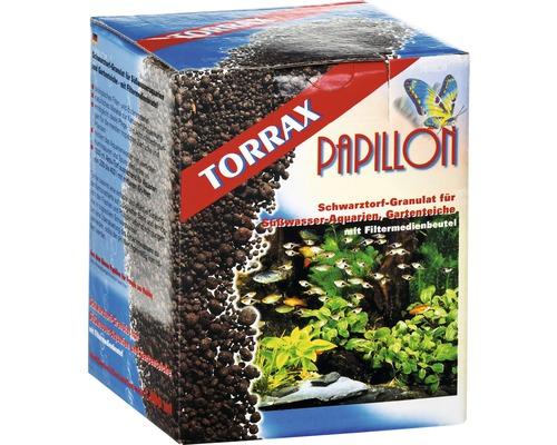 Filtermaterial PAPILLON Torrax-Schwarztorfgranulat mit Filtermedienbeutel 1 l
