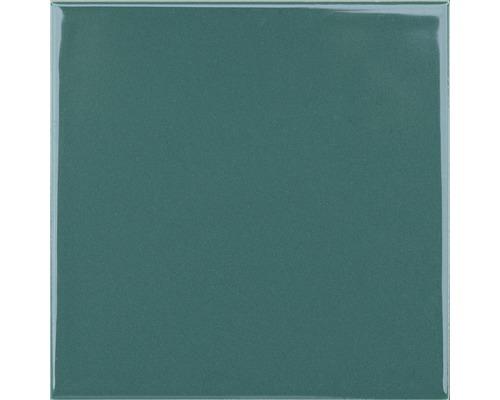 Steingut Wandfliese Plain grün glänzend 20 x 20 cm