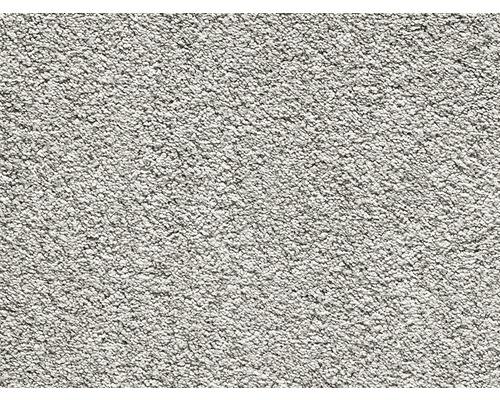 Teppichboden Luxus Shag Romantica silbergrau 500 cm breit (Meterware)