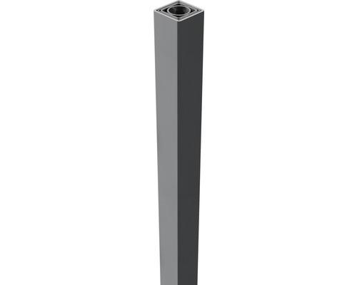 Torpfosten Novara 6 x 6 x 240 cm, silbergrau