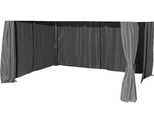 Seitenteil für Pavillon Dubai Siena Garden Polyester 180 g/m² 300x400 cm grau