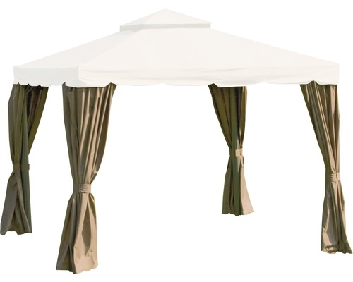 Seitenteil für Pavillon Dubai Siena Garden Polyester 180 g/m² 300x300 cm natur