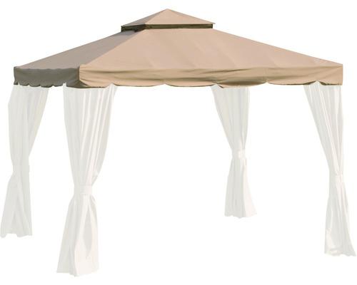 Pavillondach Dubai Siena Garden Polyester 250 g/m² 300x300 cm natur