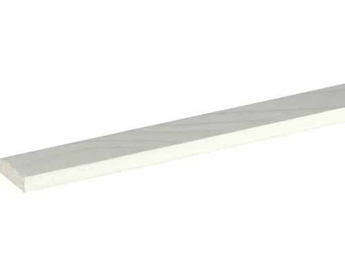 Flachleiste Fichte/Kiefer weiß lackiert 10x29x2400 mm