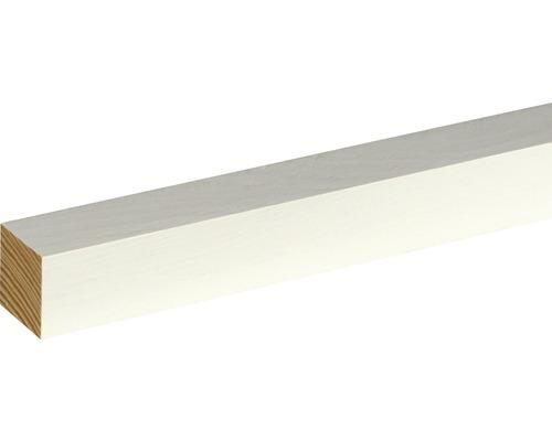 Flachleiste Fichte/Kiefer weiß lackiert 28x28x2400 mm