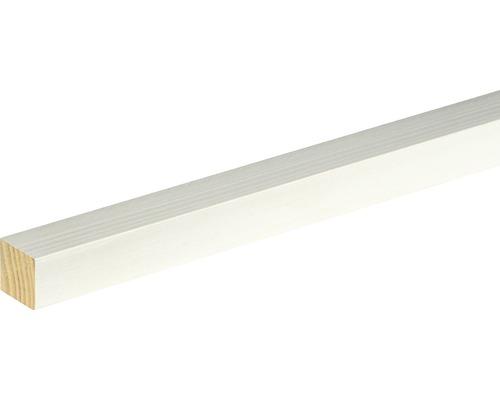 Flachleiste Fichte/Kiefer weiß lackiert 20x20x2400 mm