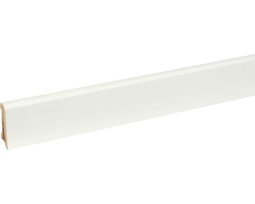 Sockelleiste S0401 GG15-20 massiv Buche weiß deckend lackiert 11,4x40x2400 mm