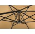 Ampelschirm Schneider Rhodos Twist 300 x 300 x 264 cm Polyester 200 g/m² sand