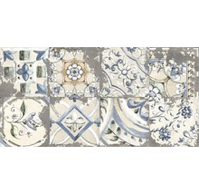 Feinsteinzeug Dekorfliese Metropolitan S grau 30 x 60 cm mix