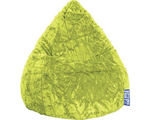 Sitzkissen Sitting Point Sitzsack Beanbag Fluffy L grün 70x90 cm