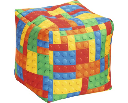 Sitzhocker Sitting Point Cube Bricks bunt 40x40x40 cm