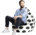 Sitzkissen Sitting Point Sitzsack Beanbag Fussball L weiß 70x90 cm