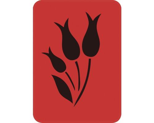 Dekorschablone Tulpen voll