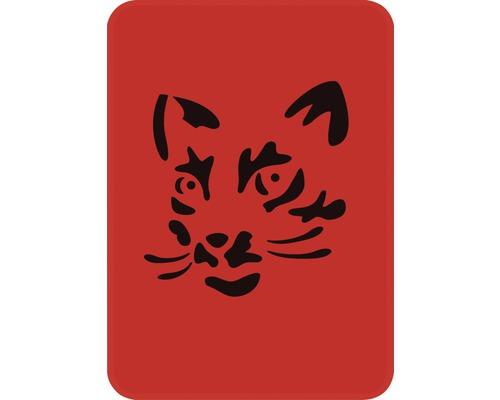 Dekorschablone Katzenkopf 14,5 x 20,5 cm