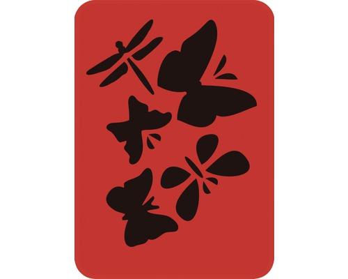 Dekorschablone Libelle und Schmetterling 14,5 x 20,5 cm