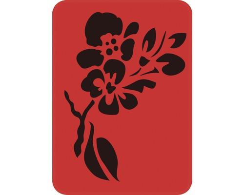 Dekorschablone Ast mit Blume 14,5 x 20,5 cm