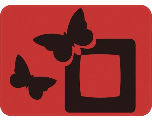 Dekorschablone Quadrat mit Schmetterling 29,5 x 21 cm