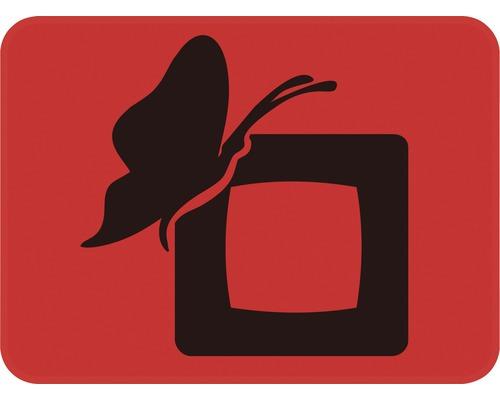 Dekorschablone Quadrat mit Schmetterling