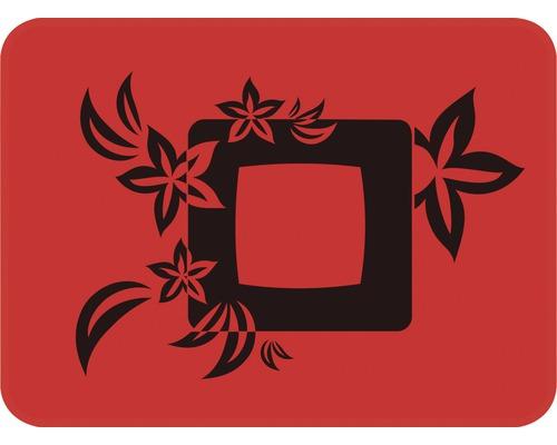 Dekorschablone Quadrat mit Blumen