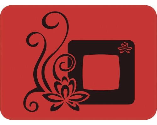 Dekorschablone Quadrat mit Blume 29,5 x 21 cm
