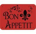 Dekorschablone Bon Appetit 56 x 43 cm