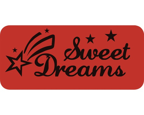 Dekorschablone Sweet Dreams 56 x 29,5 cm
