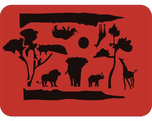 Dekorschablone Dschungel 56 x 43 cm