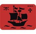 Dekorschablone Piratenschiff