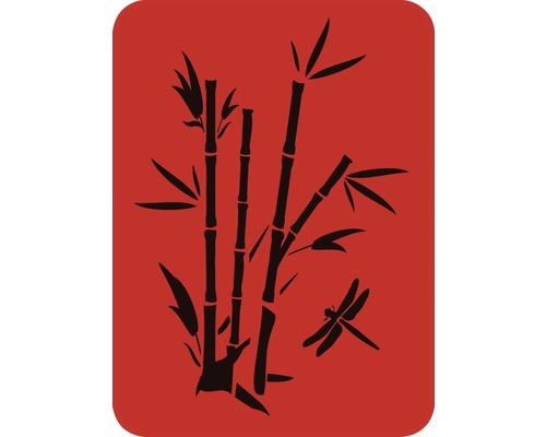 Dekorschablone Bambus