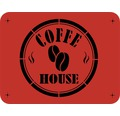 Dekorschablone Coffe House 56 x 43 cm