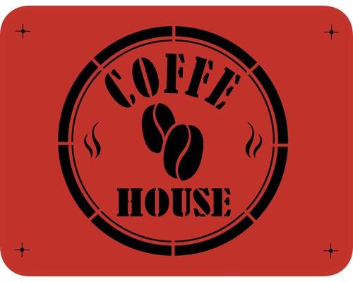 Dekorschablone Coffe House