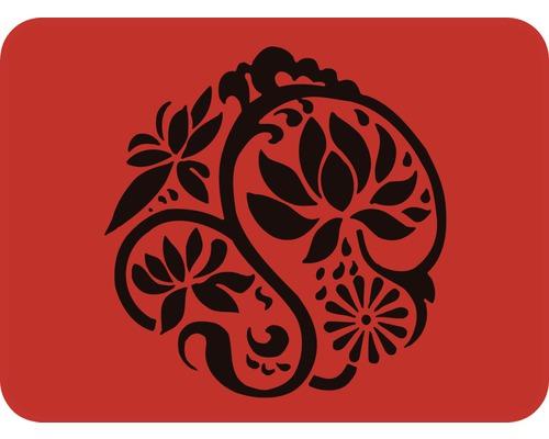 Dekorschablone Ornament Magnolie 56 x 43 cm
