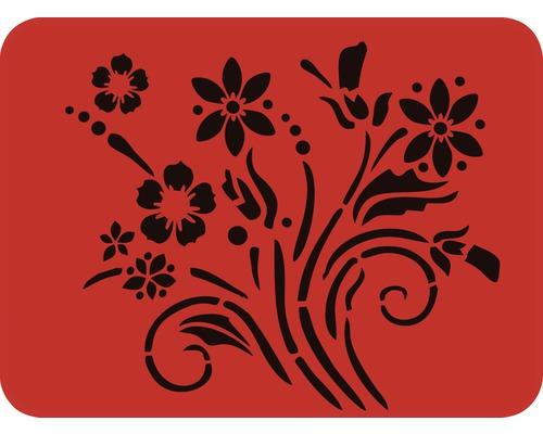 Dekorschablone Blumenstrauss
