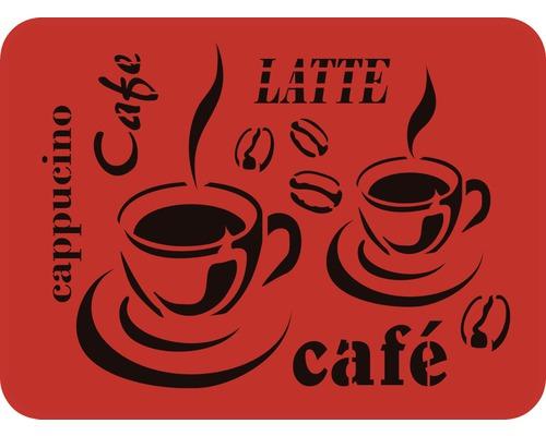 Dekorschablone DXL-330 Cafe 56 x 43 cm