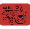 Dekorschablone Cafe 56 x 43 cm