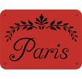 Dekorschablone Paris 56 x 43 cm